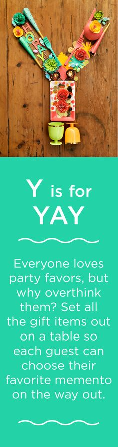 Y is for YAY!