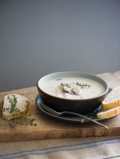 Creamy turkey potato soup recipe via white on rice couple