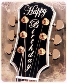 Happy Birthday - Guitar headstock with beautiful trim and tuners hardware for the special Guitarist you'd like to give a smile too. #DdO:) - https://www.pinterest.com/DianaDeeOsborne/happy-birthday-facebook/ - HAPPY #BIRTHDAY, FACEBOOK!