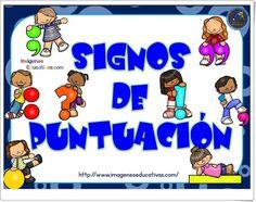 """""""Signos de puntuación"""" (Ortografía de Educación Primaria) Dual Language Classroom, Job 3, School Items, School Stuff, Teaching Writing, Spanish Language, Anchor Charts, First Grade, Literacy"""