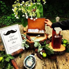 Cigar and Whiskey bar for the groom and his men
