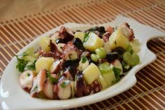 Octopus and Potato Salad - Recipe by Fidelity Cucina I Love Food, Good Food, Antipasto, Fruit Salad, Finger Foods, Potato Salad, Salad Recipes, Seafood, Food And Drink