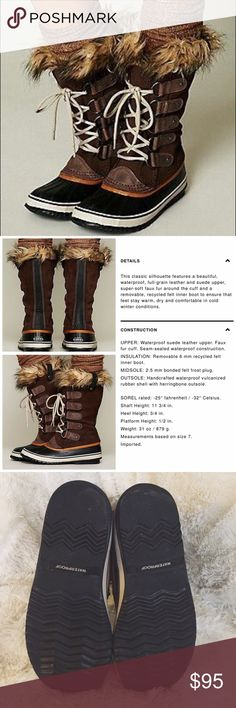 Sorel Joan of Arctic Boots in Tobacco ❄️ Best-selling boots by Sorel purchased last winter ❄️ Our winter wasn't too bad here last year so I only wore these a few times, but these boots kept my feet completely dry and toasty every time, despite freezing conditions! Very light signs of wear on the rubber part and some wear on the heel, but overall these are still in great condition! Fit like a true size 11. •Comes from a smoke/pet free home ✔️ •I'm always happy to answer any questions or add…