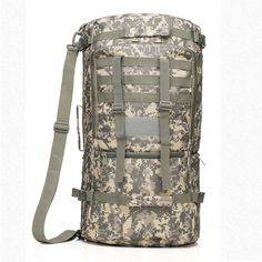 Ycc Green Military Tactical Molle Backpack, Outdoor Gear Large Waterprrof Rucksack, Camping Hiking Travel Sport Bag * For more information, visit now : Backpacking gear