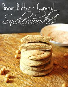 Brown Butter Caramel Snickerdoodles - The TipToe Fairy