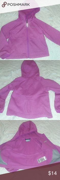 Columbia sportswear 3t sweatshirt Zip up. Hoodie. Purple, small spot on wrist area see photo. From a pet and smoke-free home Columbia Shirts & Tops Sweatshirts & Hoodies