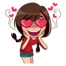 Alice in daily version – Stickers LINE Love Cartoon Couple, Cute Cartoon Pictures, Cute Cartoon Girl, Cute Love Cartoons, Cartoon Mignon, Art Mignon, Emoji Symbols, Cute Love Images, Cute Cartoon Characters