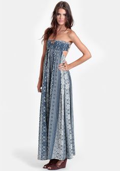 Great Kiva Strapless Maxi Dress - $52.00 : ThreadSence, Women's Indie & Bohemian Clothing, Dresses, & Accessories