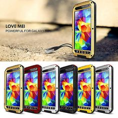 LOVE MEI Metal Waterproof Gorilla Glass Case Cover For Samsung Galaxy S6/S7 Edge