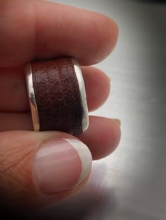 Excited to share this item from my shop: Rustic brown leather and sterling silver band ring size 6 Band Rings, Brown Leather, Etsy Shop, Rustic, Sterling Silver, Trending Outfits, Unique Jewelry, Handmade Gifts, Vintage