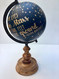 Painted Globe, Hand Painted, Globe Art, Bridal Shower Gifts, Keep In Mind, Graduation Gifts, Constellations, Ideas Para, House Warming
