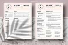 Modern and Creative Resume With Logo Resume Layout, Resume Cv, Resume Writing, Resume Design, Cover Letter Template, Letter Templates, First Resume, Project Manager Resume, Creative Resume Templates