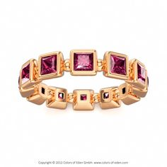 Colors of Eden | Pink Tourmaline Eternity Ring MARCIA in 18k Rose Gold #pink #tourmaline #ring
