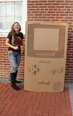 photobooth prop- life size game boy that you can take picutres behind  Could I ask ComRel to print one on foam core?