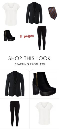 """""""Slenderp outfit (girl)"""" by creepypasta33 ❤ liked on Polyvore featuring Emporio Armani, New Look and Ike Behar"""