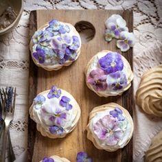 Preparing Edible Flowers: Candied Pansy Mini Pavlovas, Creamed Honey  Rose Popsicles,  Cornflower Cocktails