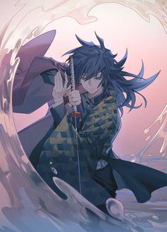 Demon Slayer: Kimetsu No Yaiba manga online Manga Anime, Fanarts Anime, Anime Demon, Anime Guys, Anime Art, Anime Chibi, Demon Slayer, Slayer Anime, Dark Fantasy