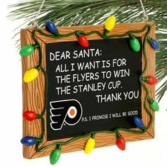 Philadelphia Flyers Chalkboard Sign Ornament