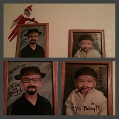 Our elf Kris paying tribute to Breaking Bad but G rated.