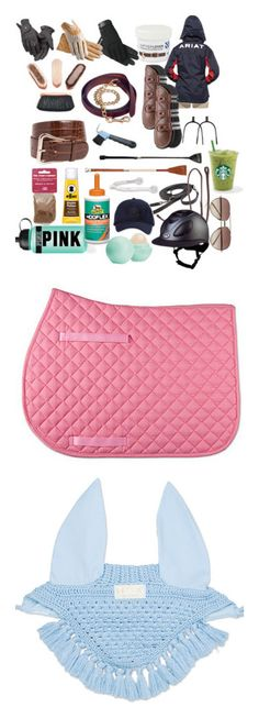 """""""Equestrian"""" by queenbofch ❤ liked on Polyvore featuring Roeckl, Ariat, Linda Farrow, Victoria's Secret PINK, Eos and tack"""