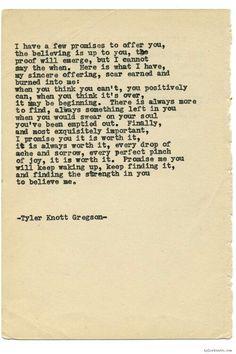 Typewriter Serues 1450 by Tyler Knott Gregson