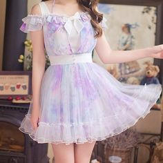 Japanese sweet bud silk condole snow princess dress