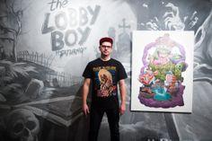 Saturno 'The Lobby Boy'.   7/03/14 - 15/04/14 Montana Gallery Barcelona.