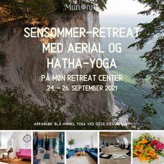 Nyd sensommeren med Hatha, Aerial Yoga og Meditation i vidunderlige omgivelser på smukke Møn. En weekend med fokus på genopladning, ny begyndelse, selvomsorg og lys i hjertet i det danske sensommer-vejr. Kom helt ned i gear og find energi og glæde, med sund mad, leg i slyngen og meditation i mørket. Vi dyrker yoga og meditation flere gange hver dag. Om morgenen Hatha-yoga med fokus på at komme helt ned i tempo og mærke hver eneste fiber i kroppen slappe af. September, Yoga, Books, Libros, Book, Book Illustrations, Libri