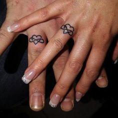 Beautiful wedding band tattoo