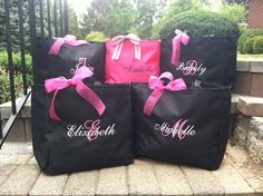 Bride Tote Bag Bridesmaid Personalized Embroidered Monogrammed Bridal Party Gifts