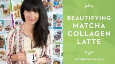 I made a matcha collagen latte which is super beautifying because collagen literally boosts your skin's hydration which automatically reduces fine lines and wrinkles. Healthy Detox, Healthy Drinks, Plant Based Recipes, Raw Food Recipes, Matcha Collagen, Smoothie Recipes, Smoothies, Juice Flavors, We Make Up