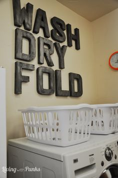 Laundry Room Revamp: Lots of DIY's included!