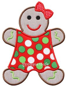 521 Gingerbread Girl 2 Machine Embroidery by AppliqueCafeDesigns