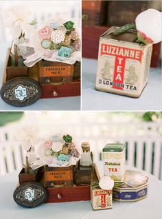 Wedding, bridal shower, baby shower tea themed party favor ideas:  Favor Couture