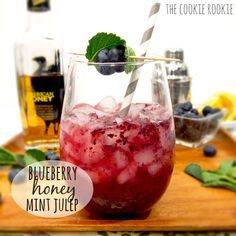 from the cookie rookie blueberry honey mint juleps blueberry honey ...