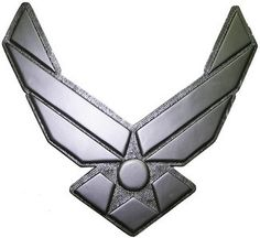 USAF Symbol Silver Seal Plaque - maybe I can recreate something like this w/ an lt. col symbol next to it?