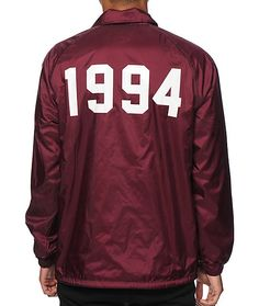 """Update your street style with an Earl Sweatshirt face left chest graphic and """"1994"""" on the back of a burgundy colorway with an adjustable drawstring hem for an improved fit."""