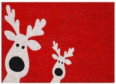 The Holiday Aisle Peeking Reindeer Door mat Christmas Rugs, All Things Christmas, Christmas Crafts, Christmas Decorations, Christmas Ornaments, Holiday Decor, Christmas Canvas, Christmas Quilting, Christmas Plates