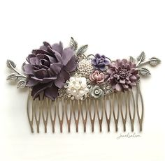 Lydia - Lavender Wedding Hair Comb