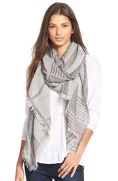 Madewell 'Geo Block Mountain' Wool Scarf available at #Nordstrom