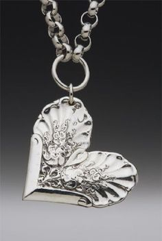 Silver Spoon Heart Necklace