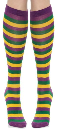 Mememall Mardi Gras Striped Socks Purple Yellow Green Clown Adult Lady Costume - with a narcissist spreadsheet Mardi Gras Outfits, Mardi Gras Costumes, Holiday Costumes, Halloween Costumes, Mardi Gras Food, Mardi Gras Beads, Mardi Gras Party, Mardi Gras Centerpieces, Mardi Gras Decorations