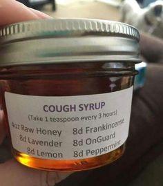 DIY / Homemade Cough Syrup using doTERRA essential oils! #essentialoilblends