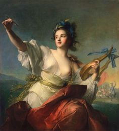 Terpsichore, Muse of Dance (1739).Jean-Marc Nattier (French, 1685–1766). Oil on canvas.Fine Arts Museums of San Francisco. In Greek mythology, Terpsichore (delight in dancing) was one of the nine Muses, ruling over dance and the dramatic chorus. She is usually depicted sitting down, holding a lyre. Nattier became the painter of the artificial ladies of Louis XV's court. He subsequently revived the genre of the allegorical portrait, in which a living person is depicted as a ...
