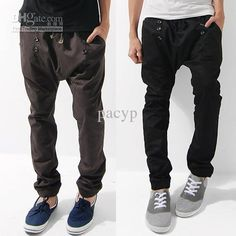 #Harem_Pants New mens casual stylish Trousers Rope 3 Color 5 SZ 426 free ship, Free shipping, $19.62-24.53/Piece | DHgate