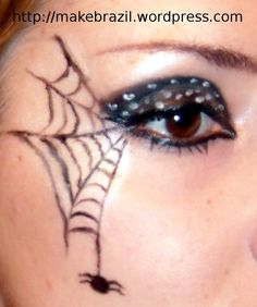spider woman makeup for halloween | Make up Tutorial – Spider Web for Halloween | Makebrazil's Blog