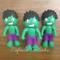 Hulk de feltro... molde adaptado da apostila Linda Lolita