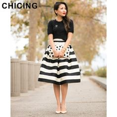 Fashion Black and White Fringe Print Pleated Skirt  Only $22.99 => Save up to 60% and Free Shipping => Order Now!  #Skirt outfits #Skirt steak #Skirt pattern #Skirt diy #skater Skirt #midi Skirt #tulle Skirt #maxi Skirt #pencil Skirt