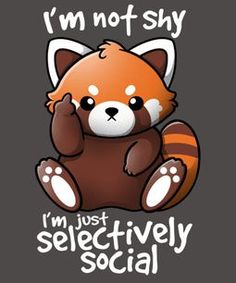 "Check out this awesome ""shy + red + panda"" design check out . - Check out this awesome ""shy + red + panda"" design Check out this awesome ""shy + red + panda"" design - Cute Cartoon Drawings, Cute Animal Drawings, Kawaii Drawings, Funny Sketches, Cute Animal Quotes, Cute Quotes, Cute Animals, Baby Animals, Cute Disney Wallpaper"