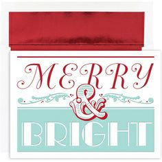 Merry and Bright Christmas Cards #christmas #holidays #cards #christmascards